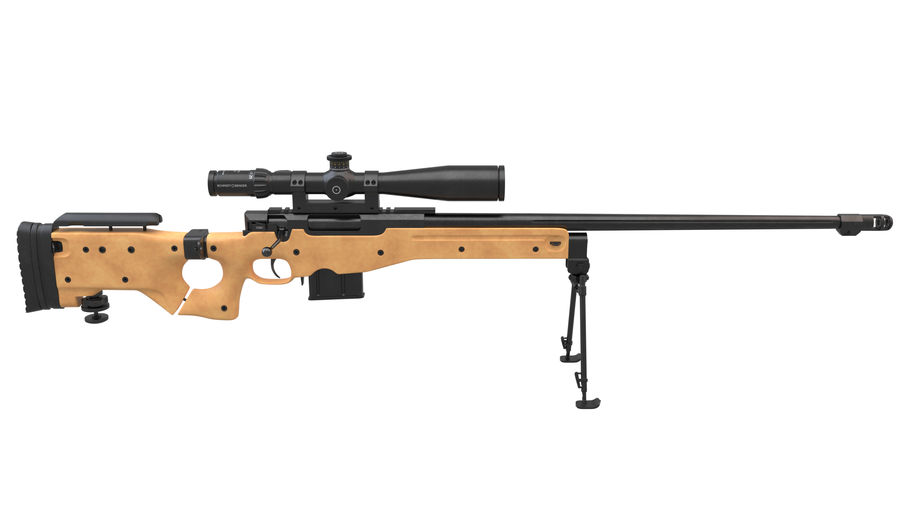 L115a3 Awp Sniper Rifle1 royalty-free 3d model - Preview no. 3