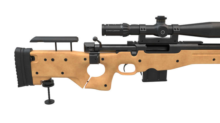 L115a3 Awp Sniper Rifle1 royalty-free 3d model - Preview no. 11