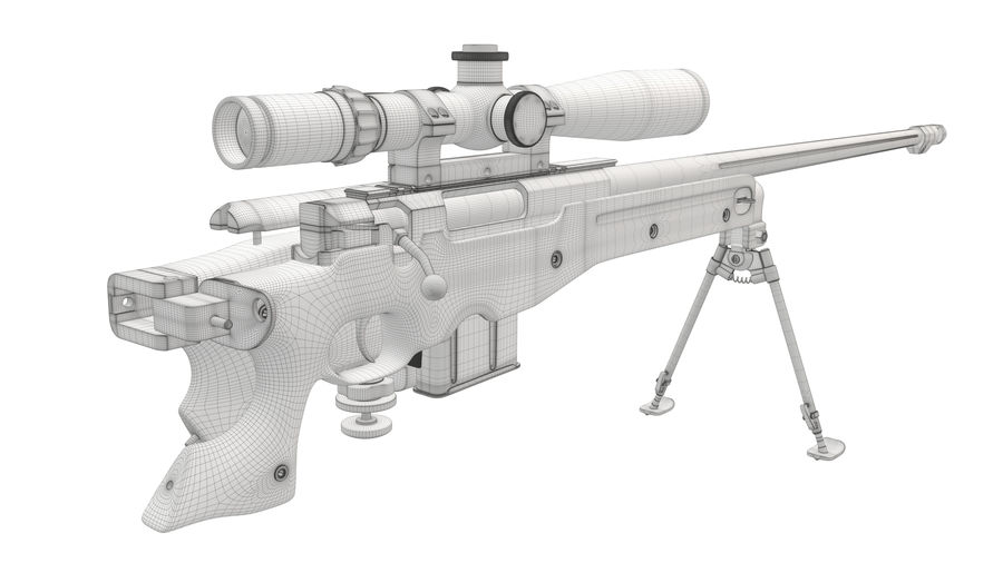 L115a3 Awp Sniper Rifle1 royalty-free 3d model - Preview no. 24