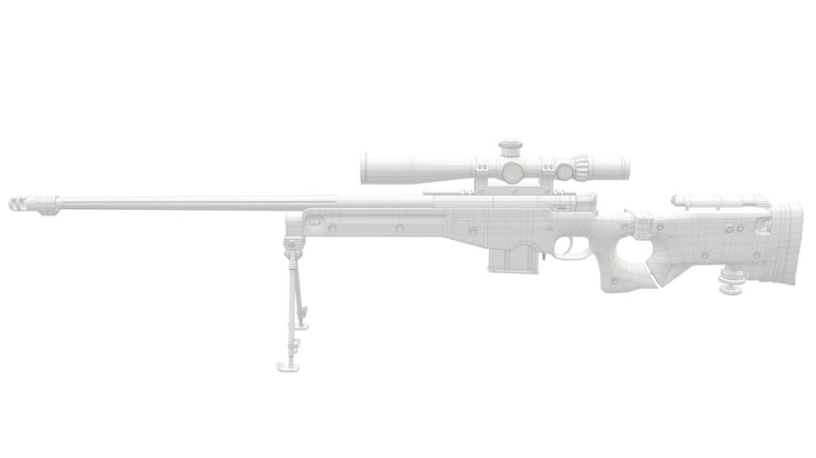 L115a3 Awp Sniper Rifle1 royalty-free 3d model - Preview no. 26