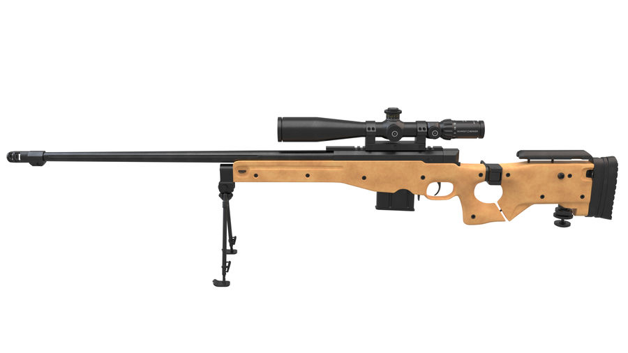L115a3 Awp Sniper Rifle1 royalty-free 3d model - Preview no. 4