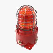 Красный световой сигнал 3d model