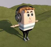 mężczyzna 3d model