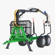 Timber Trailer 3d model