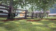 сельская местность 3d model