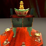 Chinese Yuanbao with monkey 3d model