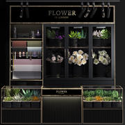 Kühlvitrine für Blumen-Floristen-Blumenladen 3d model