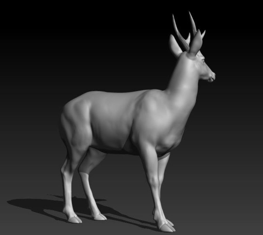 Hirsch royalty-free 3d model - Preview no. 3