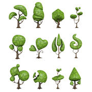 creative tree low poly pack 3d model