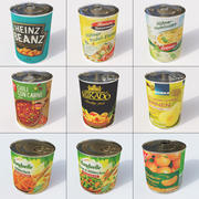 Cans set 3d model