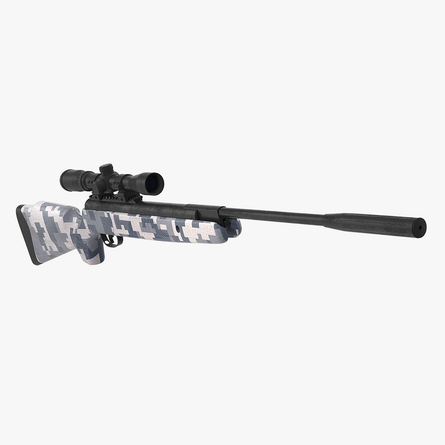 Kapsamlı Kamuflaj Arası Namlu Havalı Tüfek royalty-free 3d model - Preview no. 1