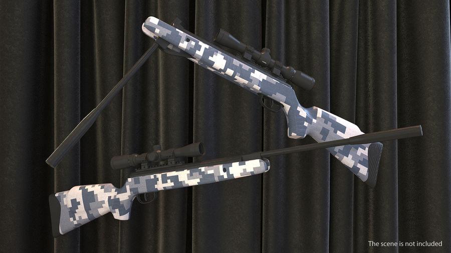 Kapsamlı Kamuflaj Arası Namlu Havalı Tüfek royalty-free 3d model - Preview no. 3