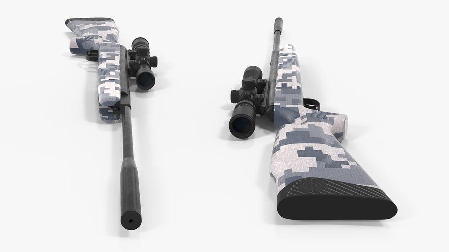 Kapsamlı Kamuflaj Arası Namlu Havalı Tüfek royalty-free 3d model - Preview no. 9