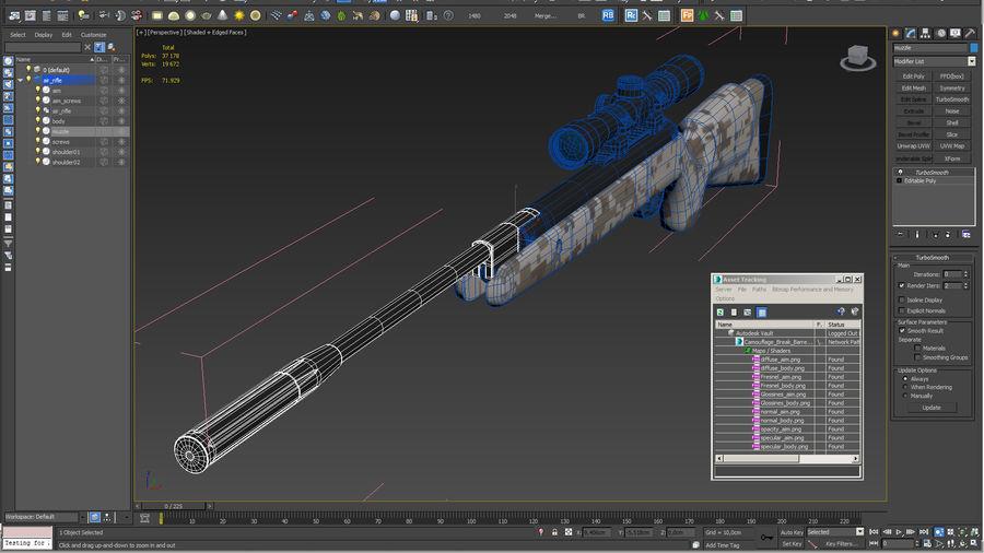 Kapsamlı Kamuflaj Arası Namlu Havalı Tüfek royalty-free 3d model - Preview no. 16