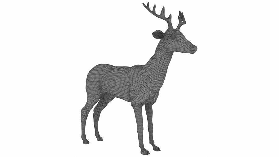 Cerf royalty-free 3d model - Preview no. 10