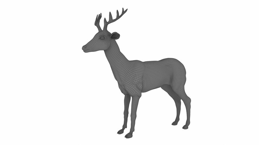 Cerf royalty-free 3d model - Preview no. 12