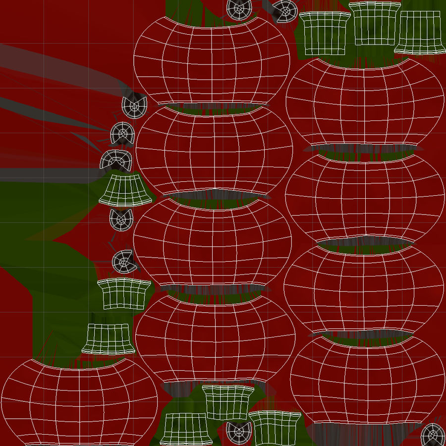Christmas Holly royalty-free 3d model - Preview no. 11