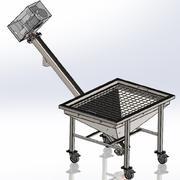 Transportador de tornillo para la industria alimentaria. modelo 3d