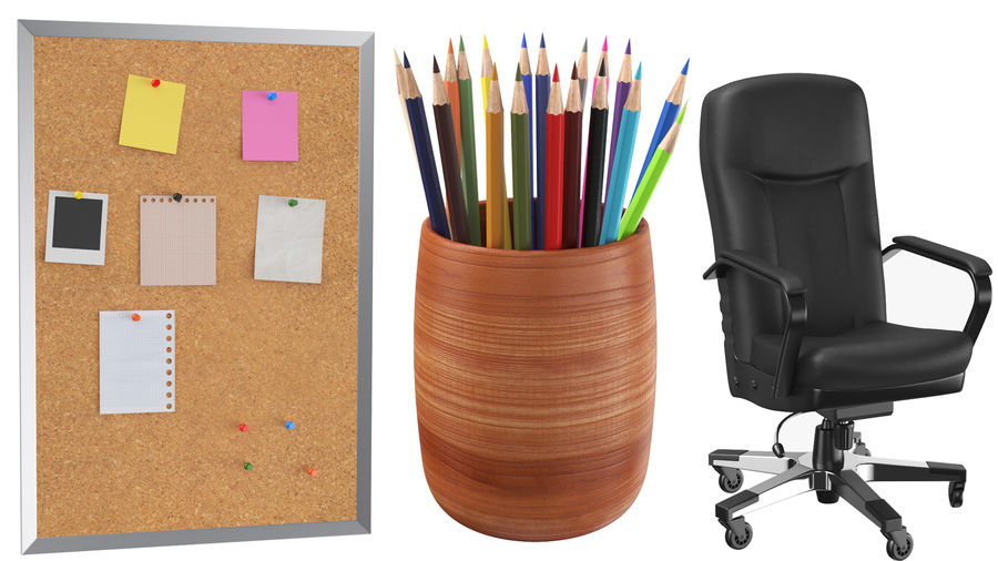Workstation per cubicoli royalty-free 3d model - Preview no. 9