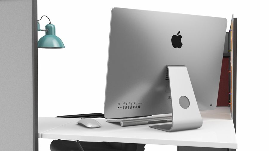 Workstation per cubicoli royalty-free 3d model - Preview no. 10