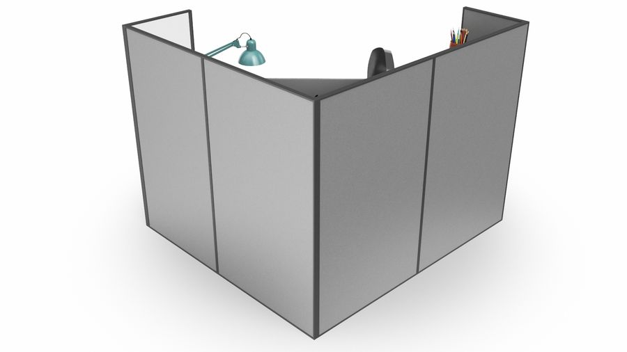 Workstation per cubicoli royalty-free 3d model - Preview no. 12