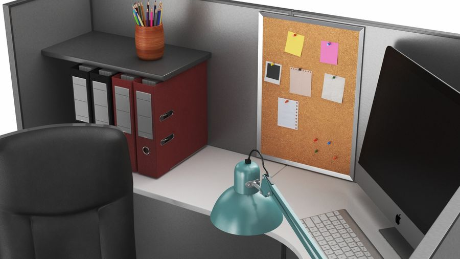 Workstation per cubicoli royalty-free 3d model - Preview no. 3