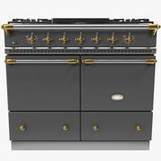 Lacanche Cluny 1000 Brass Trim Range Cooker 3d model
