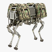 BigDog Robot Boston Dynamics 3d model