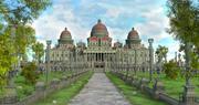 Dome Palace Landscape 3d model