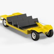 Vehículo de minería eléctrica de CC modelo 3d