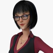 Business Woman(Cartoon) 3d model