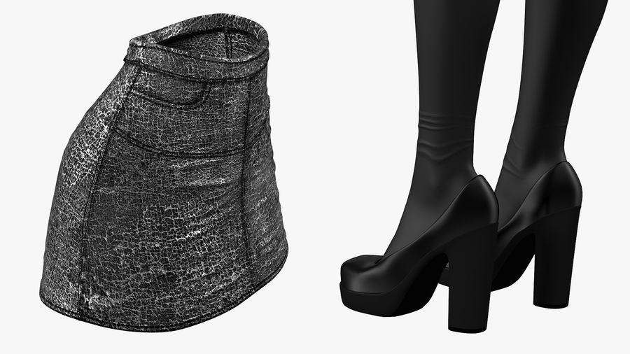 Junges Mädchen Jugendkleidung royalty-free 3d model - Preview no. 8