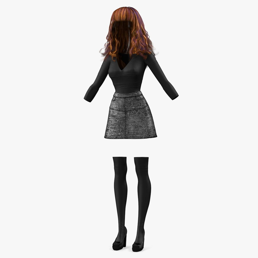 Junges Mädchen Jugendkleidung royalty-free 3d model - Preview no. 1