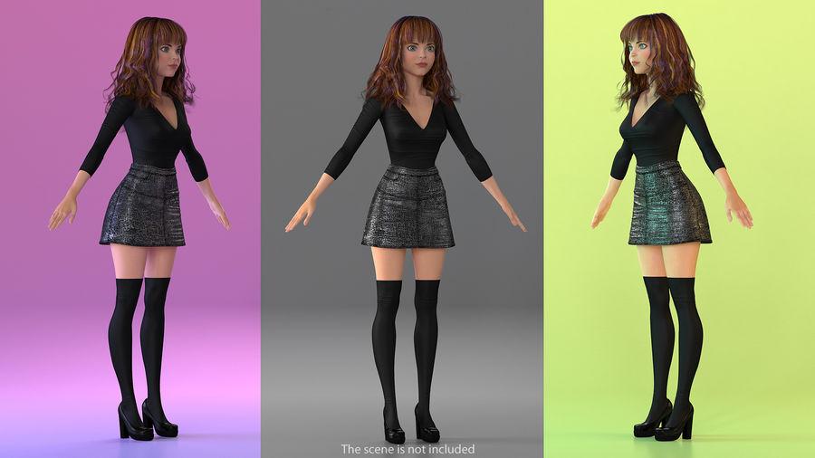 Junges Mädchen Jugendkleidung royalty-free 3d model - Preview no. 3