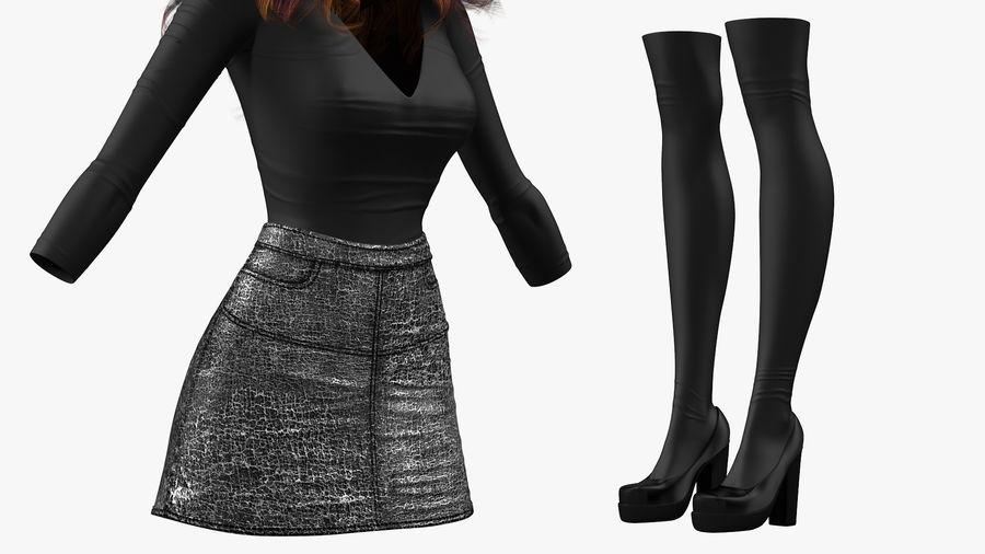 Junges Mädchen Jugendkleidung royalty-free 3d model - Preview no. 7