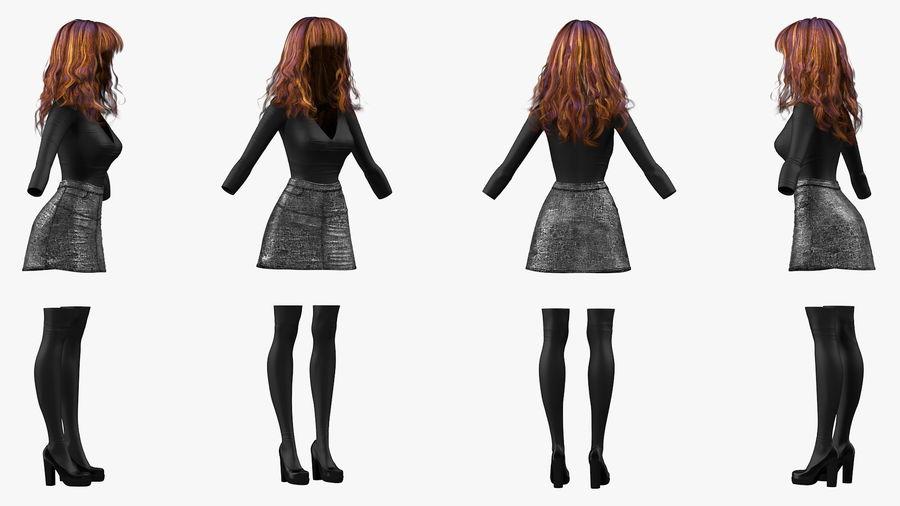 Junges Mädchen Jugendkleidung royalty-free 3d model - Preview no. 5