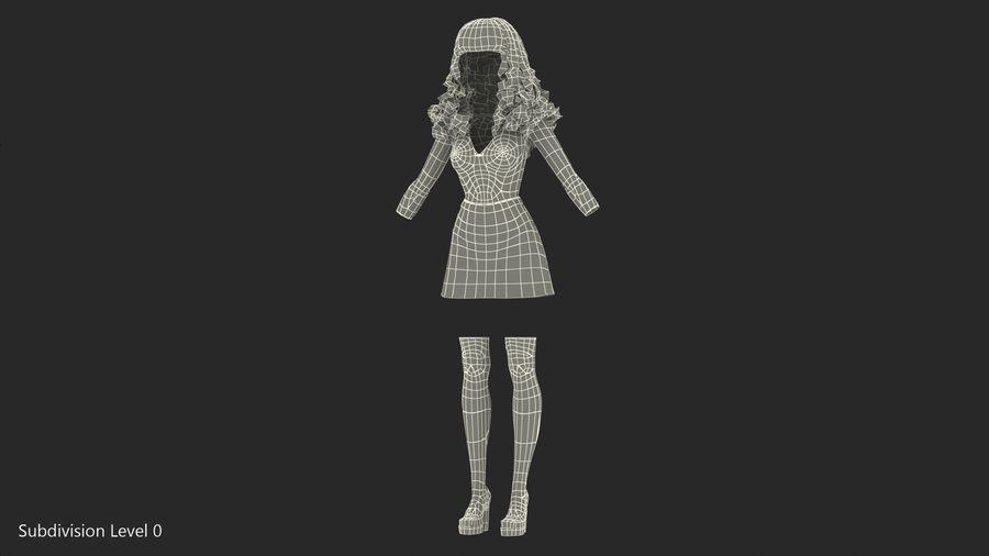 Junges Mädchen Jugendkleidung royalty-free 3d model - Preview no. 11