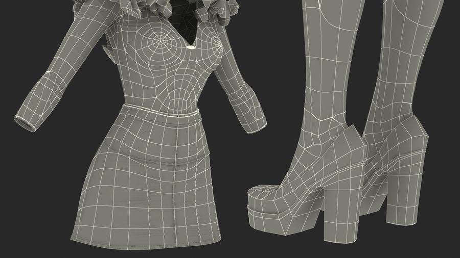 Junges Mädchen Jugendkleidung royalty-free 3d model - Preview no. 20