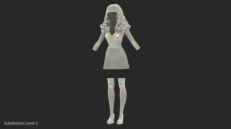 Junges Mädchen Jugendkleidung royalty-free 3d model - Preview no. 12