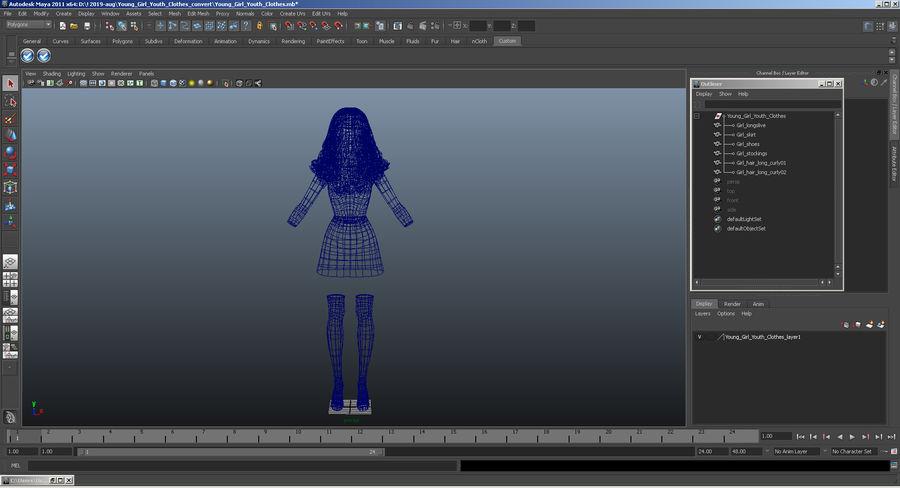 Junges Mädchen Jugendkleidung royalty-free 3d model - Preview no. 16
