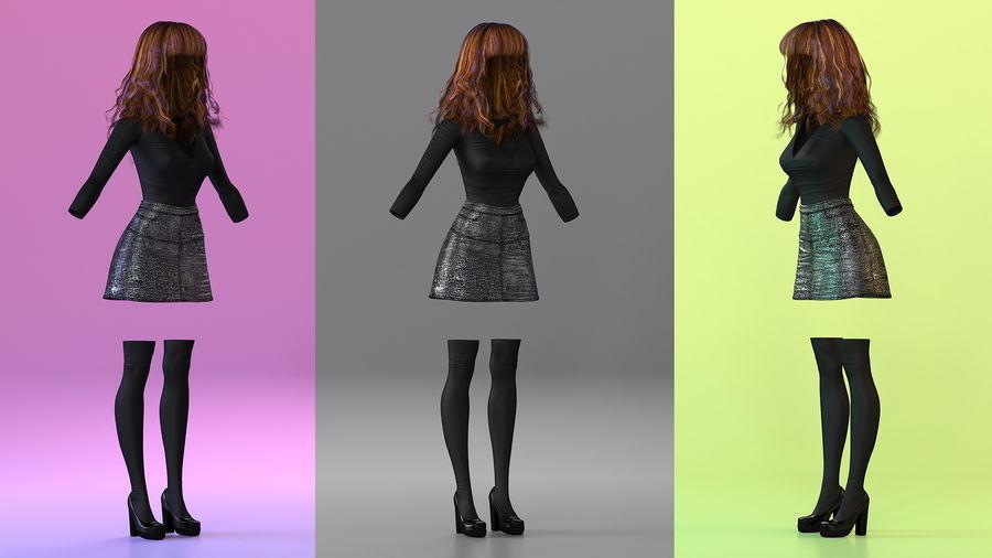 Junges Mädchen Jugendkleidung royalty-free 3d model - Preview no. 2