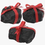 Kawałki Węgla Z Wstążkami 3d model
