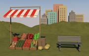 Bauernhof stehen 3d model