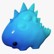 Dinosaur Cartoon Blue Animated 3d model