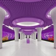 지하철 역 3d model