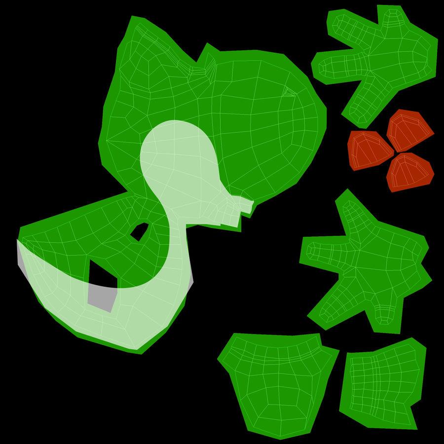 Postać Yoshi z Super Mario royalty-free 3d model - Preview no. 10