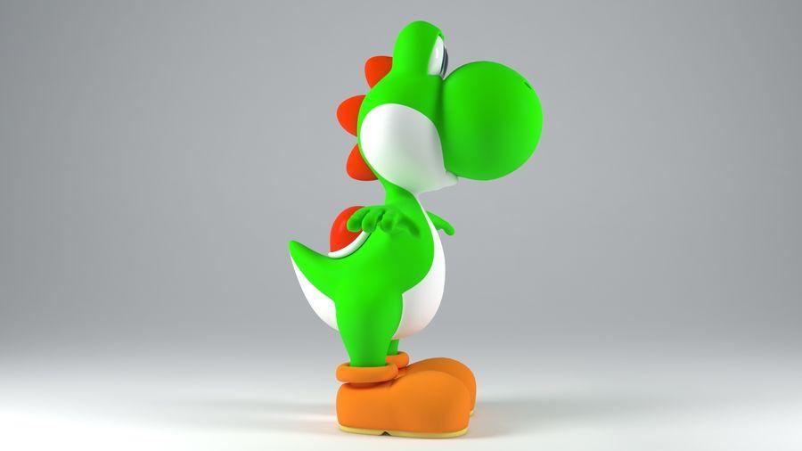 Postać Yoshi z Super Mario royalty-free 3d model - Preview no. 5