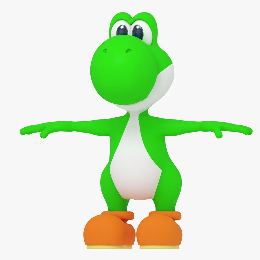 Postać Yoshi z Super Mario royalty-free 3d model - Preview no. 1