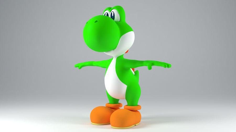 Postać Yoshi z Super Mario royalty-free 3d model - Preview no. 2