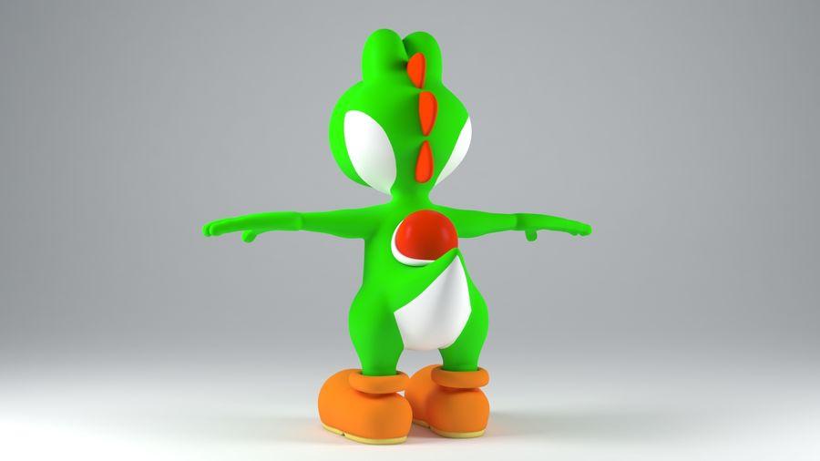 Postać Yoshi z Super Mario royalty-free 3d model - Preview no. 3